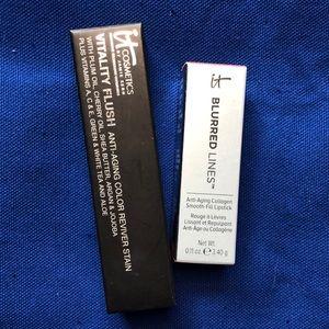 IT COSMETICS cheek/lip stain and lipstick set